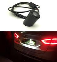 mazda luces de advertencia al por mayor-Logotipo de la cola del laser del coche llevó la luz Anti colisión Advertencia de la luz de niebla trasera de crianza para Honda Toyota Lexus Nissan Mazda infiniti