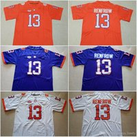 Wholesale Kelly Manning - Clemson Tigers #13 Hunter Renfrow #2 Kelly Bryant Orange Purple White Color College Stitched Jerseys 2017 New Style Jersey Free Shipping