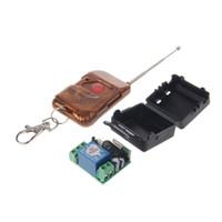 controle remoto de 315mhz rf venda por atacado-1 PC DC 12 V 10A Relé Interruptor de Controle Remoto Sem Fio RF 1CH Transmissor + Receptor 315 MHz / 433 MHz