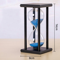 Wholesale birthday plastic glasses for sale - Hourglass Timer Retro Style Wooden Ornaments Children Adornments Student Creative Birthday Gifts Home Decor Plastic Glass jx ff