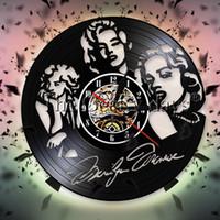 ingrosso cantante decorativo-Marilyn Monroe orologio da parete attrice vinile orologio da parete cantante sesso simboli icona arte decorativa orologio fan regalo