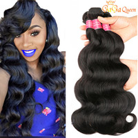 Wholesale human hair weave for sale - 8A Brazilian Peruvian Body Wave Virgin Hair Bundles Brazilian Indian Malaysian Body Wave Human Hair Weave Bundles Natural Color Gaga Queen