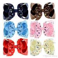 Wholesale navy hair - Fashion Baby hairclips Bow Hairpin for Girls Bowknot Navy style Dots Stripes Barrette Kids Hair Boutique Bows Hair Accessories KFJ181