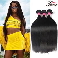 Wholesale Natural India Hair - 100% Brazilian Virgin Straight Human Hair 8A Peruvian Straight Hair 3 or 4 Bundles Unprocessed India Malaysian Straight Human Hair Weave