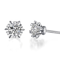 2e2c217ce D F Color Moissanite Lab Certified Diamond Earring 9k,14k,18k Gold Inlay  Rmantic Snowflake Design Forever Brilliant Stud With A Certificate