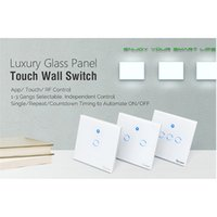 Wholesale Wall Switch Panels - Sonoff T1 RF WiFi Switch Touch Control Wall Light Switch 1  2  3Gang 86 Type UK Panel Wall Touch Light Switch 433Mhz Smart Home