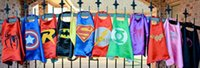 Wholesale Kids Costume Capes - 70*70cm Double layer Cape with Mask kids cosplay Superhero Capes and Mask for Kids Christmas Halloween Cosplay Prop Costumes