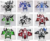 satış sonrası kawasaki ninja fairings toptan satış-KAWASAKI NINJA ZX9R 00 01 ZX 9R 2000 için Motohero Fairings 2001 aftermarket fairing kitleri + cam + ısı + tank + ped