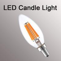 dimmable b22 led 6w venda por atacado-Dimmable Led Filamento luzes e12 e14 e27 b22 lâmpada da vela 2 W 4 W 6 W 8 W globo lâmpadas G45 A60 ST64 G95 lâmpada led
