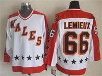 lemieux ccm jersey großhandel-1986 Wales All Star CCM Mario Lemieux Vintage Eishockeytrikot 66 Mario Lemieux All-Star Spiel Vintage Jersey