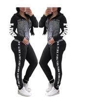 Wholesale long yoga pants women online - Fashion Print Women Hooded Tracksuits long sleeve Tops Long Pants Two Piece Set Hoodies Outfits Sportswear Sweatsuits New Arrival