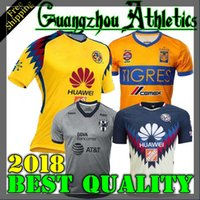 Wholesale Jersey Club America - Tijuana 2018 LIGA MX Club America soccer Jerseys New home away Third Yellow 17 18 Monterrey Camisetas football Tigres UANL UNAM Chivas