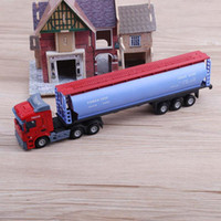 Wholesale diecast toy trucks for sale - Alloy engineering Car Transport Vehicle Model Toys Simulation Alloy Container Truck Diecast Vehicles Children Educational Toy