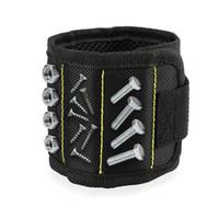 outil handyman achat en gros de-Trousse de ceinture de bracelet magnétique Drill Holster réglable Troisième main aidant pour menuisier BRICOLAGE Outils de mécanicien bricoleur TY7-327
