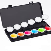 Wholesale Nail Polish Color Palette - 1Pc Color Mixing Palette Plastic Movable for Acrylic Gel Polish UV Painting Drawing Color Palette Nail Art Tools