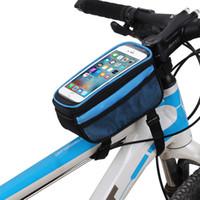 fahrradhalterung großhandel-Fahrrad taschen fahrradrahmen halter packtasche handytasche tasche touch scree radfahren tasche für iphone 5.0 zoll