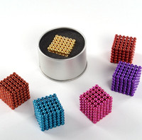 Wholesale Magnetic Beads Toy - 3mm Shapable 216pcs Magnetic Beads Neo Cube Magic Cube Magnets Puzzle Fidget Toys High quality Anti Stress Cube Kids' Gift