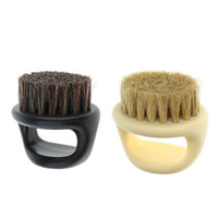 coiffure achat en gros de-Hommes Moustache Barbe Brosse Barber Salon Cheveux Balayage Brosse Rasage Du Visage Cheveux Cou Cou Duster Brosse Pour La Coiffure