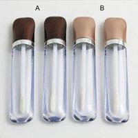 siyah dudak balsamı toptan satış-boş Ruj tüpü Dudak balsamı tüpü Ruj kabı Ruj şişesi UV Siyah Brwon Cap ile dudak parlatıcısı tüpü
