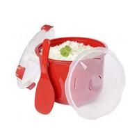 ingrosso plastica in titanio-Ciotola di plastica del vapore del riso del forno a microonde con gli utensili della cucina degli strumenti di Cooker del blocco del coperchio del cucchiaio