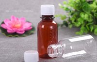 Wholesale pet plastic material - 100ml PET bottle Empty liquid divide PET material with Scale Clear Liquid Bottle Empty Plastic Bottle
