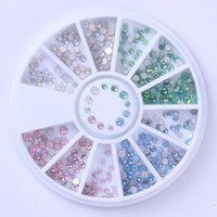 Wholesale Manicure Wheel - Mixed 3D Nail Decoration Acrylic Rhinestones Sparkle Nail Stud Glitters Rivet for Nails Manicure Art Decorations In Wheel