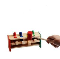 муха детской игрушки оптовых-Деревянные детские головоломки развивающие игрушки бить бить летающих пауков играть деревянные колышки детские практические познания