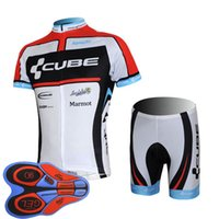 Wholesale cube jersey bib - CUBE Men's 2018 Hot team Cycling Short Sleeves jersey (bib) shorts sets The latest summer Bicycle Sportswear Mountain Bike F2007