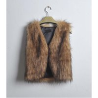 Wholesale wholesale faux fur vests - Free Ostrich Coat Faux Fur Vest Women Cardigan Sleeveless Furry Warm Outerwear Coat Oversized Tops chaleco mujer Dropshipping