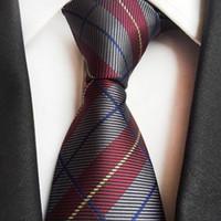 с высокой плотностью связей оптовых-business neck ties for man High density plaid shirt tie mens suit size 146x8x8.8 cm