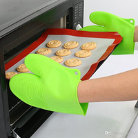 Wholesale wear gloves for sale - Group buy Convenient Baking Glove Chunky Heat Resistant Reusable Kitchen Tool Non Slip Anti Scald Wear Hanging New Arrival Silicone3 gj dd