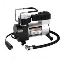 12v taşınabilir araba lastik pompası toptan satış-100 psI Mini Hava Kompresörü 12 V Araba Oto Taşınabilir Pompa Lastik Şişirme yüksek kalite araba-styling Taşınabilir Hava Kompresörü Pompası