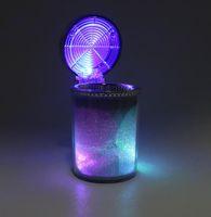 araba küllük bardaklık tutucuları toptan satış-Araba LED Işık ile Sigara Küllük Puro Kül Tablası Konteyner Duman Kül Silindir Duman Bardak Tutucu Depolama Kupası Oto Aksesuarları