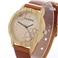 relojes de imitación de lujo al por mayor-Marca FanTeeKay Moda Relojes de cuarzo de lujo para mujer Nuevo diseño Imitación Reloj de madera Hombres Casual Deporte Reloj de pulsera Pareja Reloj Relogio