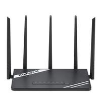 roteadores externos venda por atacado-Router sem fio do gigabit de Wi-Fi da longa distância de 300Mbps com poder superior 5 apoio de antenas externas 802.11b / g / n para o hotel do escritório domiciliário