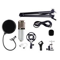 gravação de microfone dinâmica venda por atacado-BM-800 Dynamic Condensador Gravação Com Fio Microfone Estúdio de Som com Choque de Montagem com Suporte definido para Kit de Gravação KTV Karaoke