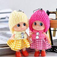 Wholesale heart plush toys for sale - Mini Plush Animals Key Chain Cute Fashion Kids Plush Dolls Keychain Soft Stuffed Toys Keyring Baby For Girls Women