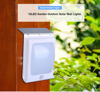 Wholesale pathway wall lighting resale online - High Lumen Solar Wall Lights garden solar sensor light LED lm Waterproof Wall Mounted Garden Outdoor Night Light for Pathway