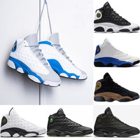 Wholesale Black Cat Art - 2018 Mens 13 13s Basketball Shoes Italy Blue Hyper royal Altitude Love Respect Olive black cat bred flints Sports Trainers sneakers US 8-13