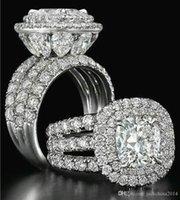 china smaragd schmuck großhandel-JewelryStore999 Atemberaubender Luxus Schmuck Paar Ringe 925 Sterling Silber Birnenschliff Saphir Smaragd Multi Edelsteine Hochzeit Braut Ring Set