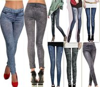 tipo leggings al por mayor-2018 Otoño Primavera Nuevas mujeres vendedoras calientes Mujeres Delgadas Señoras Moda nieve salvaje Señora Denim Leggings Pantalones pantalones 7 Tipos