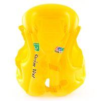 équipement de natation pour enfants achat en gros de-Nouveau haute qualité enfants maillot de bain gonflable gilets de sauvetage Swim gilet de survie équipement - couleur aléatoire