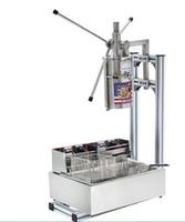 máquinas llenadoras al por mayor-tres conjuntos enteros Comercial 7L Vertical Manual Churrera Churros Machine / 12L Freidora / 700 ml de relleno envío gratis