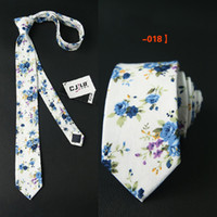 Wholesale Unisex Men s Cotton Floral Ties FashionTies For Men Women Corbatas Suits Vestidos Necktie Party Mens Suit Tie Original New Printed Gravatas