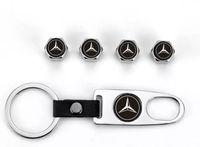 araba tekerlekleri hava toptan satış-4 Adet Araba Tekerlek Lastik Vana Lastik Hava Caps Kök Mercedes-Benz için Hava Anahtarlık