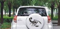 akrep çıkartmaları çıkartmaları toptan satış-Otomobil suya girme dekorasyon için 1 adet Moda Sevimli 3D Scorpion araba Çıkartma araba tasarım vinil çıkartma etiket