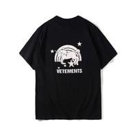 Wholesale Rainbow Shirt Men - Best Version Vetements Unicorns and Rainbows Printed Women Men T shirts tees Hiphop Oversized Cotton Short Sleeve Men T shirt
