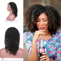 Wholesale virgin human hair wigs sale for sale - Hot Sale Brazilian Density Lace Front Wigs inch Afro Kinky Curly Natural Human Hair In Stock G EASY