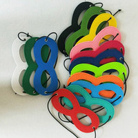 Wholesale craft christmas decorations - Wholesales 15 Colors Felt Halloween Half Face Mask Party Decoration Masquerade Masks Craft Supplies Party Supplie Christmas Event Decor