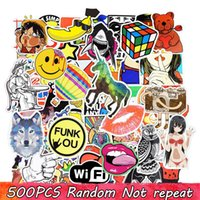 Wholesale Modern Bedroom Wall Decor - Diy stickers posters wall stickers for kids rooms home decor sticker on laptop skateboard luggage wall decals car sticker 500pcs